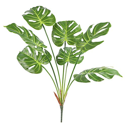 Famibay Hoja de Palmera Tropical Planta Artificial 70cm/27.5inch Monstera Deliciosa Ramas Artificial...