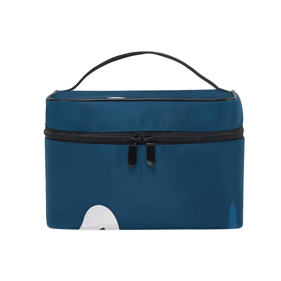 保持絡まる物足りないメイクボックス 動物の白鳥柄 化粧ポーチ 化粧品 化粧道具 小物入れ メイクブラシバッグ 大容量 旅行用 収納ケース