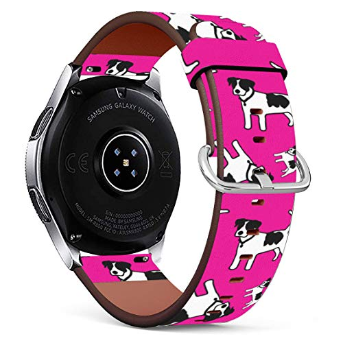 Replacement Leather Printing Wristbands Compatible with Galaxy Watch3 (45mm) / Galaxy Watch (46mm), Standard 22mm Strap - Owls Wearing Glasses