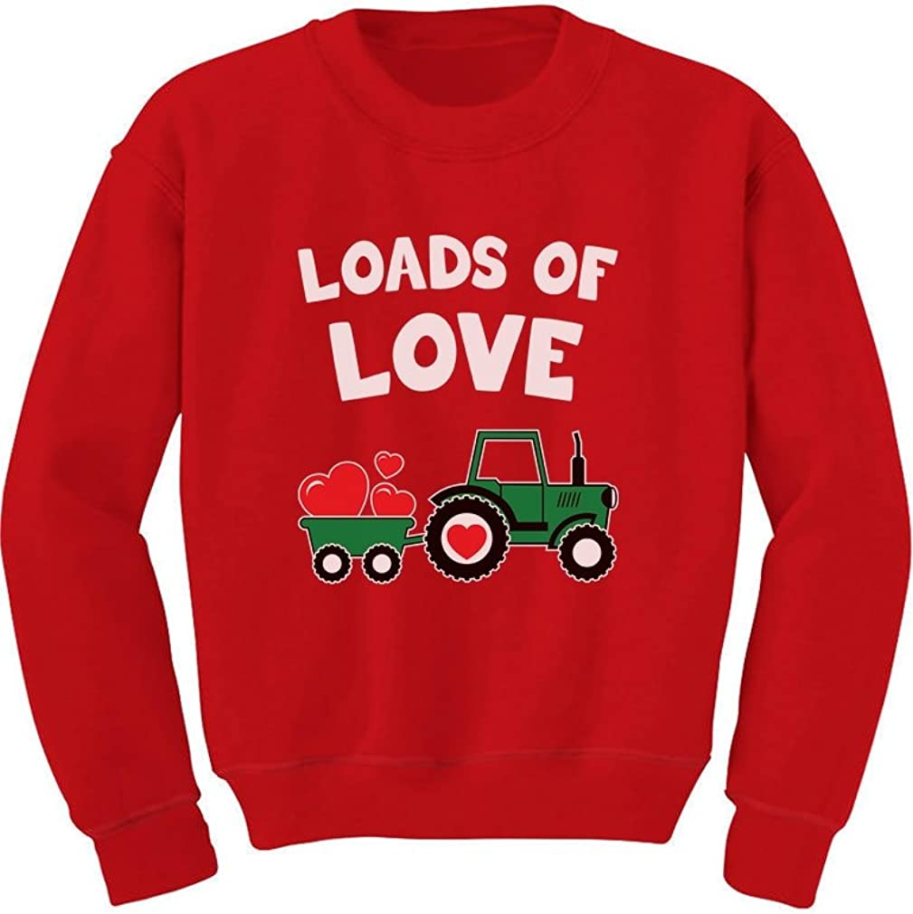 Loads of Love Valentine's Gift Tractor Loving Toddler/Kids Sweatshirts