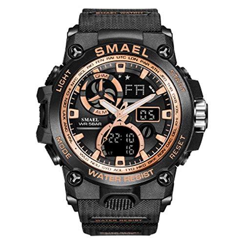 SXXYTCWL Hombres Reloj Digital Sport 50M Impermeable Reloj LED Reloj de Cuarzo Reloj del Deporte del Reloj del Deporte Masculino jianyou (Color : C)