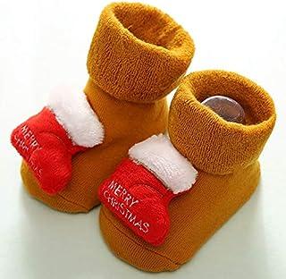 JKCKHA, JKCKHA Los niños de algodón de invierno del bebé del color del calcetín divertido Anti Slip calentadores de la pierna del bebé recién nacido calcetines de Navidad Medias Bebe Baby Stuff calcetines del
