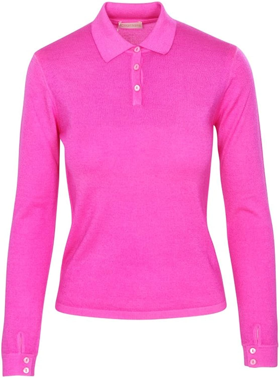 Cruciani Polo Poloshirt Women's Pink Slim Fit Cashmere Casual 40 IT