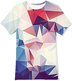 f6bc2ef0a6431 RAISEVERN drôle Enfants Unisexes 3D imprimé T-Shirts Casual Tops Tees Cool  Manches Courtes pour