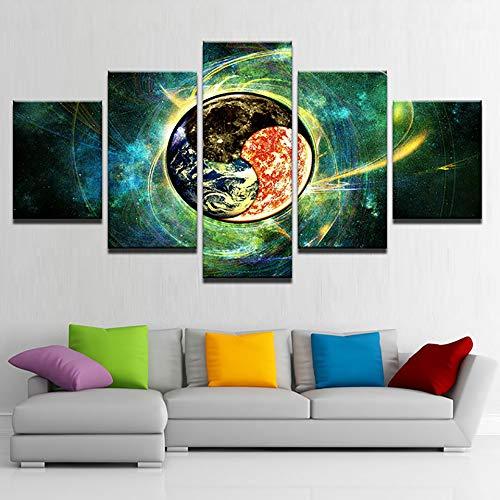 KANGZEDT Pintura sobre lienzo - 5 piezas 200*100CM Tierra