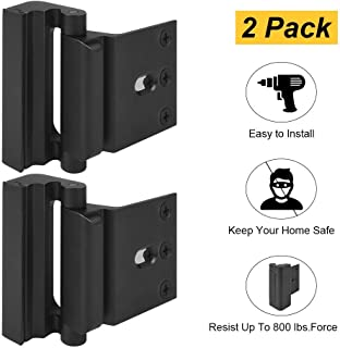 Home Security Door Lock, Childproof Door Reinforcement Lock with 3