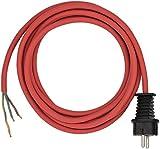 Brennenstuhl 1160450 Câble d' alimentation H05RR-F 3G1,5 rouge, Rouge, 3 m