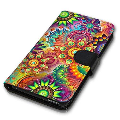 wicostar Book Style Handy Tasche - Design MV-94 - kompatibel mit Huawei Ascend Y550 - Cover Hülle Schutz Hülle Etui Schutzhülle