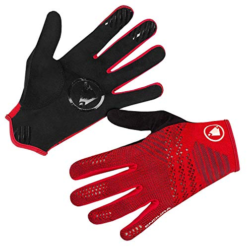 ENDURA SingleTrack Liteknit Glove, Rojo, M