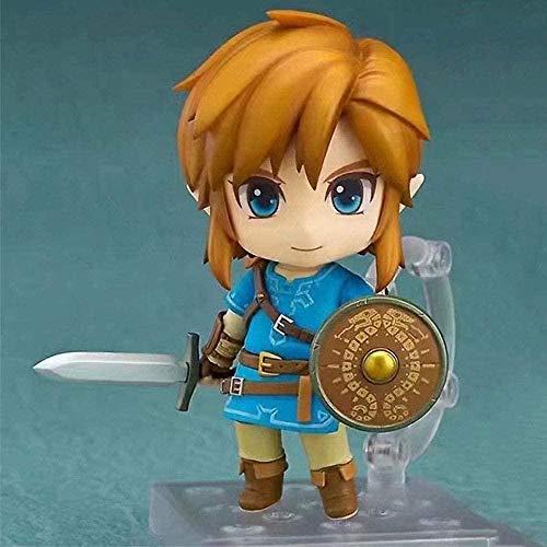 STKCST Anime Doll The Legend of Zelda Link Breath of The Wild Edición de Lujo Figura Versión Escultura Decoración Estatua Muñeca Modelo Juguete Figura Altura 10cm
