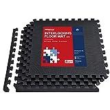 PROIRON Schutzmatten Fitness Puzzlematte 4er Set 60×60×1.2cm, Matten Pool Bodenmatten Outdoor mit...