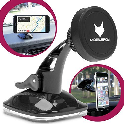 Mobilefox 360° Magnet Auto KFZ Handy Halterung Halter Armaturenbrett Windschutzscheibe für Huawei P30/P20/Pro/P10/P9/P8/lite/Y625/Y6/Honor/8/Mate/S/Nova/Plus