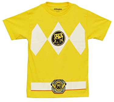 Power Rangers The Yellow Rangers Costume Adult T-Shirt Tee