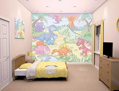 Walltastic Fototapete Baby Dinosaurier Welt