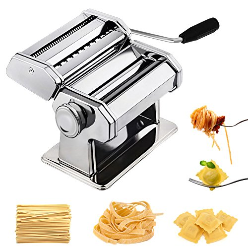 CHEFLY Pasta Ravioli Maker Set All in one 9 Thickness Settings for Fresh Homemade Fettuccine...