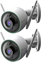 EZVIZ EZC3N3H2L28 C3N 1080p Outdoor Wi-Fi Bullet Camera with Night Vision & Built-in AI 2 Pack