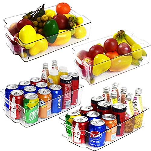 VERONLY Kühlschrank Organizer Küche Set, Küchen Organizer Schrank Tidy Fridge Aufbewahrungsbox Container Boxen, für Kleiner kühlschrank, Regale, Waschbecken,Büromaterialien–4er-Set