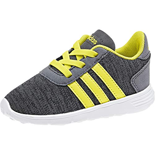 Adidas Lite Racer Inf, Zapatillas de Estar por casa Bebé Unisex, Gris (Carbon/Amasho/Onix 000), 18 EU