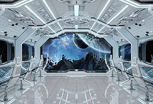 Fondos de fotografía Nave Espacial Planeta Universo Ciencia gabinete Interior Foto Fondos Estudio fotográfico A9 9x6 pies / 2,7x1,8 m