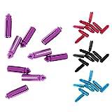 F Fityle 36 Piezas Protectores Dardo Portátil de Aluminio Accesorio Universal Color Mezclado