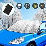 Viedouce Protector para Parabrisas Coche,Cubierta del Parabrisas Coche Magnético Protege de Rayos UV, Escarcha de Nieve,Impermeable Protector contra el Polvo de Nieve con Ganchos Elásticos (Size-02)