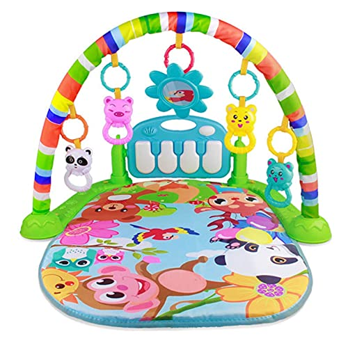ZXZCHGN Baby Play Mat, Baby Gym Play Mats, Baby Play Mat Activity Gym for Infants Baby Kick Play Piano Gym, Music and Sounds for Baby Kids Girls Boys