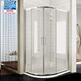 <span class='highlight'>ELEGANT</span> <span class='highlight'>1200</span> x 800 <span class='highlight'>mm</span> Left Offset <span class='highlight'>Quadrant</span> Corner Shower Enclosure 8<span class='highlight'>mm</span> Easy Clean Sliding Shower Door with <span class='highlight'>Tray</span>   Waste