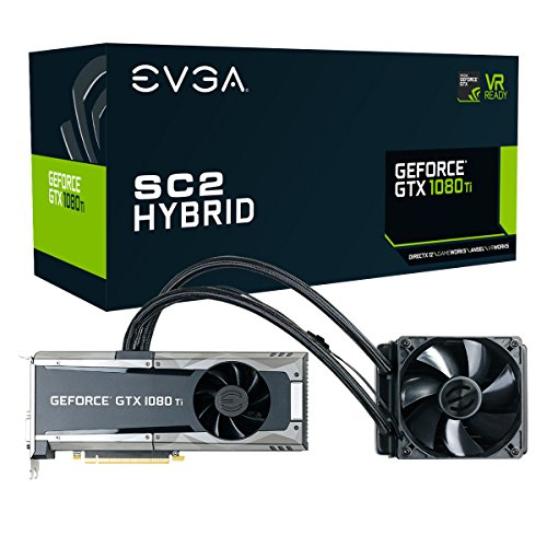 EVGA GeForce GTX 1080 Ti SC2 Hybrid Gaming, 11GB GDDR5X, iCX Technology - 9 Thermal Sensors Graphics Card 11G-P4-6598-KR