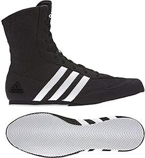 adidas Box Hog Mens Boxing Trainer Shoe Boot Black/White - UK 8