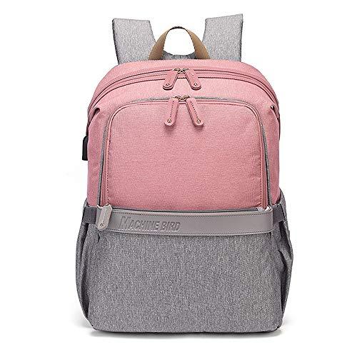 GXHGRASS luierrugzak (met USB-poort), hoge capaciteit waterdicht maternaal en kind pakket reizen rugzak, 30 * 22 * 45Cm Baby vervoer opknoping ring allround isolatiefilm