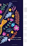 Ukulele Chords 2020 Monthly Calendar: Organizer Diary+Habit tracker and Password List with Ukulele Tab Music Paper for Songwriting Chord Boxes and ... Guitar Bright Tropical Leaves Flower Theme