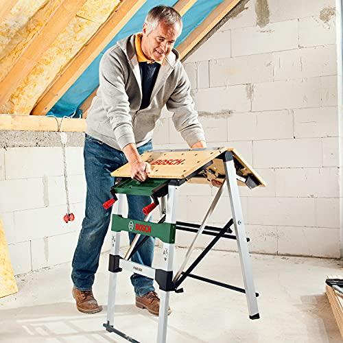 Bosch DIY PWB 600 Arbeitstisch, 4 Spannbacken, Karton (max. Tragfähigkeit 200 kg, Arbeitshöhe 834 mm, max. Spannbreite mit Klemme 525 mm) - 7