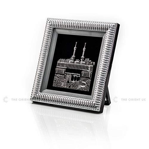 3D Kaaba Frame 18x20 Silver Home Office Decoration Hajj Umrah Eid Ramadan Islamic Gift