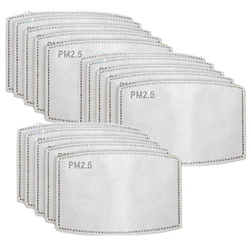 50ピースPM2.5活性炭フィルター5層交換可能なアンチヘイズフィルター屋外活動のための保護マスクフィルター交換