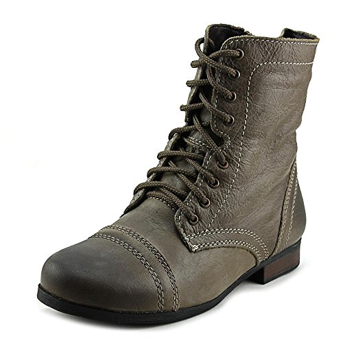 Steve Madden Jtroopa Youth US 1 Brown Combat Boot