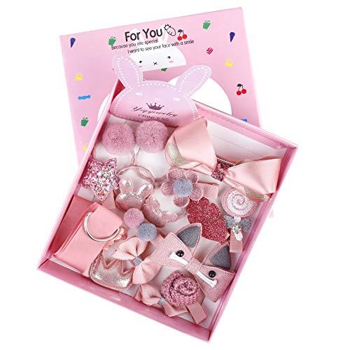 Clips Pinza Pelo Niña Accesorios de Peinado Set Flores Cinta Bowknot Arco Lazos el Cabello Lindo Horquillas Bebé Diademas...