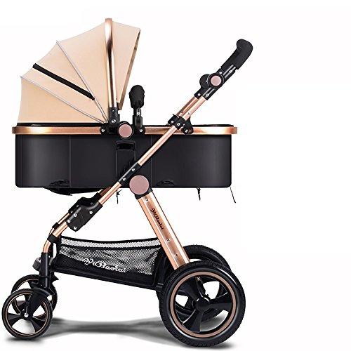 WAWDZG Inverno E Baby Estate Carrelli voor kinderen, lichtgewicht kinderwagen, kinderwagen van Alto Profilo, in grado van Sedersi inklapbare kinderwagen