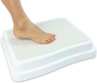 Vive Bath Step (4 inch) - Slip Resistant Shower Stepping Stool - Elevated Bathroom Safety Aid for Handicap, Elderly Seniors Entering, Exiting Bathtub - Nonslip Heavy Duty Bathtub, Bed, Kitchen
