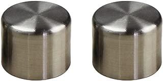 VORCOOL 2 PCS 28mm Window Drapery Curtain Rod End Drapery Pole Rail Decorative Heads (Silver)