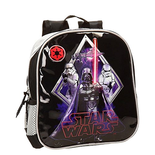 Star Wars Darth Vader Mochila Preescolar, Color Negro