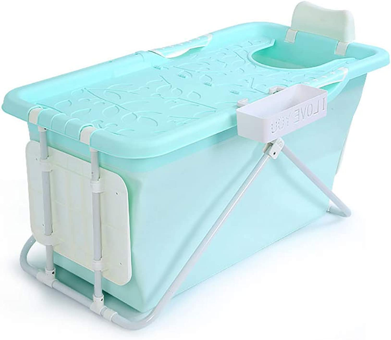 Folding Bathtub,Bath Adult, Portable Folding Baby Bathtub, 3 colors, 100  57  50 cm (color  bluee) bluee