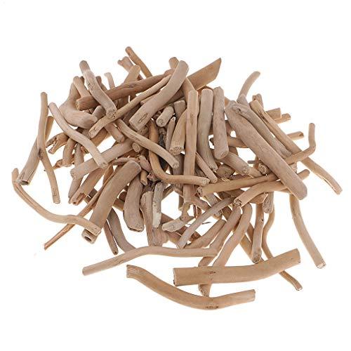 kowaku 125 G Natural Driftwood Wooden Discs Ornament Driftwood to Decorate - 50-80mm