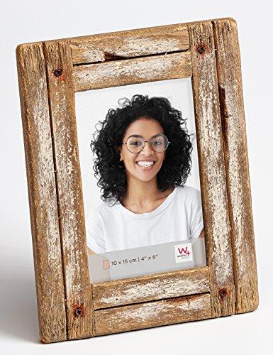 Dupla Portraitrahmen 10x15 cm, weiß/natur