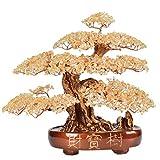 Ornamento de Escritorio Piedra preciosa del árbol del dinero cristal natural de árbol Oficina de Protección Art Deco Living Room espiritual meditación Decoración de cristal Bonsai artesanías decoració