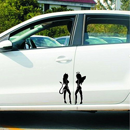 Diable ange Fille Silhouette Voiture Auto Moto Sticker mural Autocollant