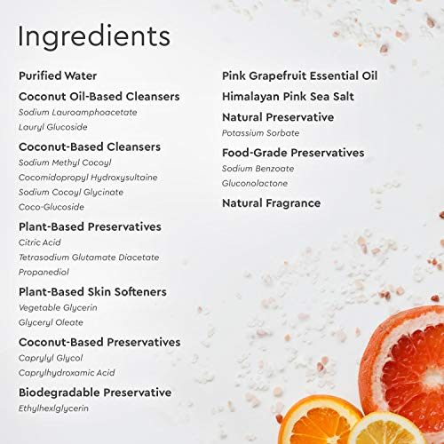 Puracy Body Wash Ingredients