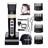 BAORUN Tondeuse Cheveux Homme Professionnel Model.A8S , Tondeuse Barbe, Tondeuse Cheveux Homme précision sans Fil, Affichage LED, Lame coniques, 4 Guide de Coupe, Longueur de Lame avec 0.8mm-2.0mm