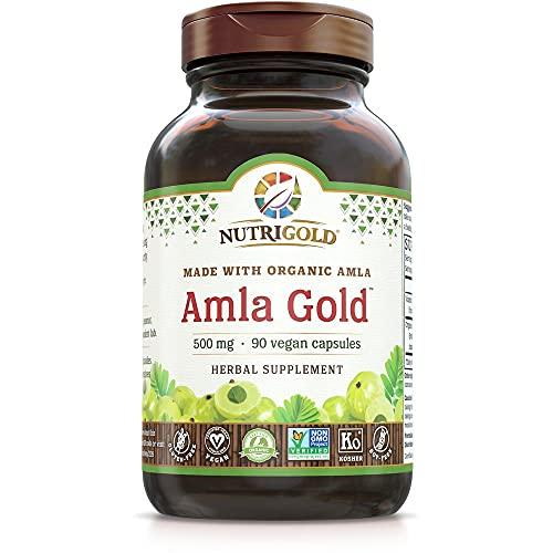 NutriGold Amla Gold Veggie Capsules Amalaki Indian Gooseberry, 500 mg,...