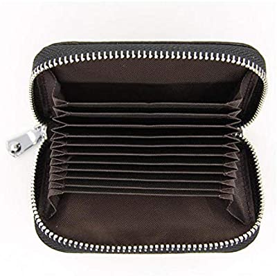 The First Layer of Leather Organ Card Bag Female Holder Men Package Multi-Function Zipper