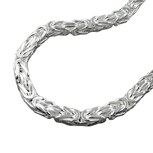 Kette 6mm Königskette vierkant glänzend Silber 925 55cm